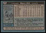 1980 Topps #236  Marc Hill  Back Thumbnail