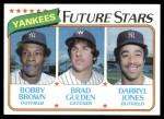 1980 Topps #670   -  Bobby Brown / Brad Gulden / Darryl Jones Yankees Rookies Front Thumbnail