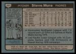1980 Topps #491  Steve Mura    Back Thumbnail