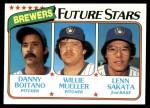 1980 Topps #668   -  Danny Boitano / Willie Mueller / Lenn Sakata  Brewers Rookies Front Thumbnail