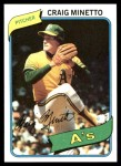1980 Topps #494  Craig Minetto   Front Thumbnail