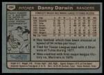1980 Topps #498  Danny Darwin  Back Thumbnail