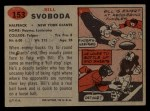 1957 Topps #153  Bill Svoboda  Back Thumbnail