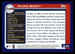 2003 Topps #632   Atlanta Braves Team Back Thumbnail