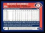 2003 Topps #550  Manny Ramirez  Back Thumbnail