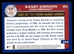 2003 Topps #704   -  Randy Johnson Award Winners Back Thumbnail