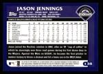 2003 Topps #138  Jason Jennings  Back Thumbnail
