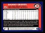 2003 Topps #215  Danny Graves  Back Thumbnail