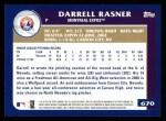 2003 Topps #670  Darrell Rasner  Back Thumbnail