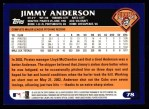 2003 Topps #78  Jimmy Anderson  Back Thumbnail