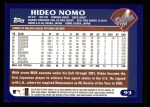2003 Topps #93  Hideo Nomo  Back Thumbnail