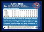 2003 Topps #512  Dave Berg  Back Thumbnail