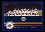 2003 Topps #646   Minnesota Twins Team Front Thumbnail