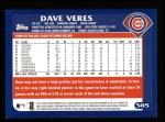 2003 Topps #505  Dave Veres  Back Thumbnail