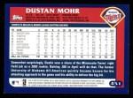 2003 Topps #451  Dustan Mohr  Back Thumbnail