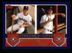 2003 Topps #324  Hank Blalock / Mark Teixeira  Front Thumbnail