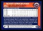 2003 Topps #431  Scott Strickland  Back Thumbnail