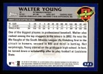2003 Topps #321   -  Walter Young First Year Back Thumbnail