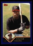 2003 Topps #321   -  Walter Young First Year Front Thumbnail