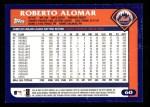 2003 Topps #60  Roberto Alomar  Back Thumbnail