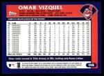 2003 Topps #98  Omar Vizquel  Back Thumbnail