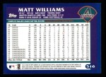 2003 Topps #516  Matt Williams  Back Thumbnail