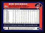 2003 Topps #136  Bob Wickman  Back Thumbnail