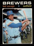 1971 O-Pee-Chee #76  Ted Savage  Front Thumbnail
