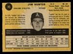 1971 O-Pee-Chee #45  Catfish Hunter  Back Thumbnail