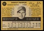 1971 O-Pee-Chee #261  Darold Knowles  Back Thumbnail