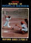 1971 O-Pee-Chee #328   -  Don Buford / Johnny Bench 1970 World Series - Game #2 - Buford Goes 2-for-4 Front Thumbnail