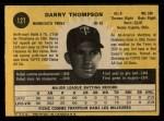 1971 O-Pee-Chee #127  Danny Thompson  Back Thumbnail