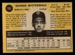 1971 O-Pee-Chee #189  George Mitterwald  Back Thumbnail