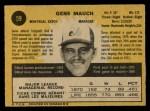 1971 O-Pee-Chee #59  Gene Mauch  Back Thumbnail