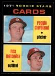 1971 O-Pee-Chee #216   -  Luis Melendez / Reggie Cleveland Cardinals Rookies Front Thumbnail