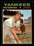 1971 O-Pee-Chee #184  Stan Bahnsen  Front Thumbnail