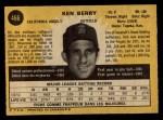 1971 O-Pee-Chee #466  Ken Berry  Back Thumbnail