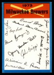 1973 Topps Blue Checklist   Brewers Front Thumbnail