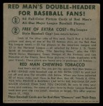 1952 Red Man #2 NL x Richie Ashburn  Back Thumbnail