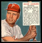 1952 Red Man #2 NL x Richie Ashburn  Front Thumbnail
