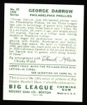 1934 Goudey Reprint #87  George Darrow  Back Thumbnail