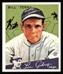 1934 Goudey Reprint #21  Bill Terry  Front Thumbnail