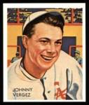 1934 Diamond Stars Reprint #21  Johnny Vergez  Front Thumbnail