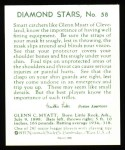 1934 Diamond Stars Reprint #58  Glenn Myatt  Back Thumbnail