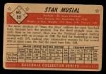 1953 Bowman #32  Stan Musial  Back Thumbnail