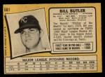 1971 O-Pee-Chee #681  Bill Butler  Back Thumbnail