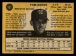 1971 O-Pee-Chee #167  Tom Grieve  Back Thumbnail