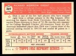 1952 Topps REPRINT #369  Dick Groat  Back Thumbnail