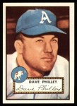 1952 Topps REPRINT #226  Dave Philley  Front Thumbnail