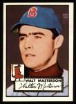 1952 Topps REPRINT #186  Walt Masterson  Front Thumbnail